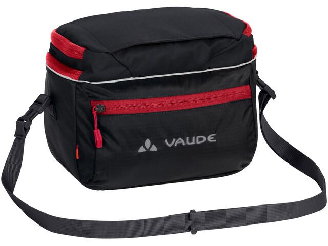 VAUDE Road I Bolsa de manillar, black/red